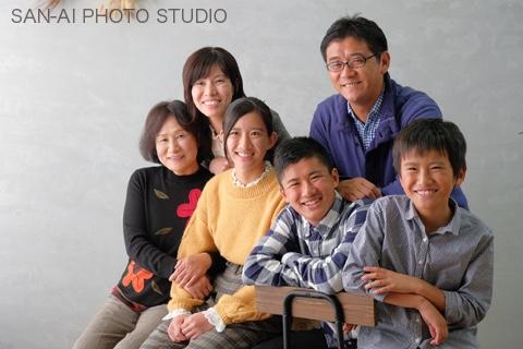 家族写真 ファミリーフォト 年賀状撮影