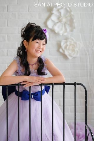 子供ドレス 年賀状撮影