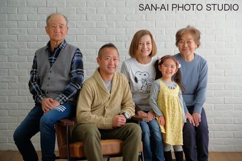 家族写真 記念写真 ファミリーフォト