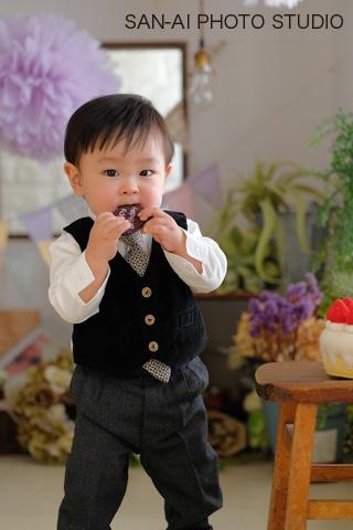 1歳バースデー 誕生日記念 子供スーツ