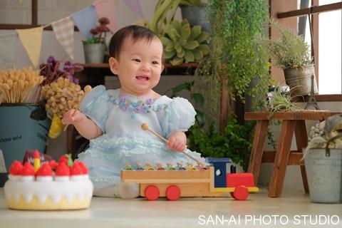 1歳バースデーフォト 子供ドレス