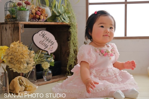 1歳誕生日記念 子供ドレス