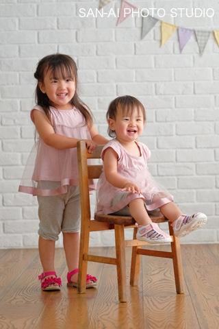 1歳誕生日記念 姉妹フォト