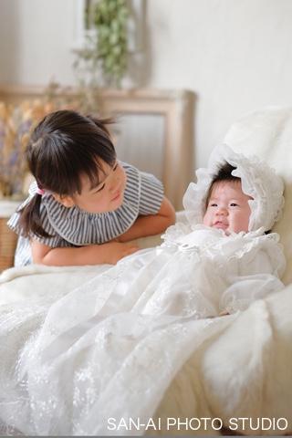お宮参り記念 姉妹フォト