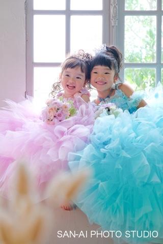 子供ドレス 姉妹フォト