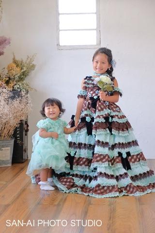 姉妹フォト 子どもドレス