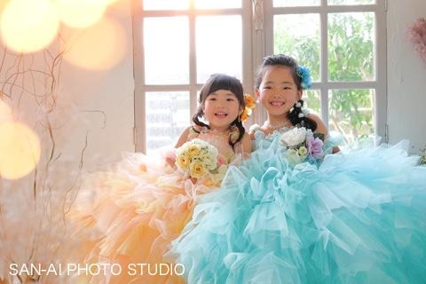 七五三記念 姉妹フォト 子どもドレス