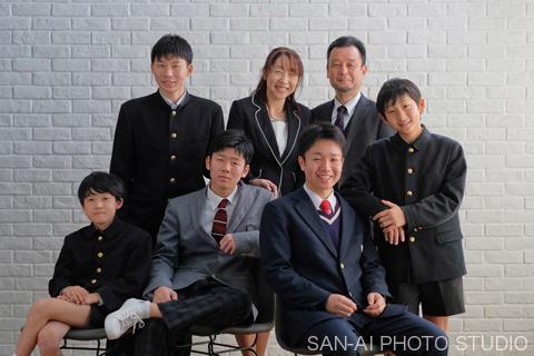 家族写真 卒業記念
