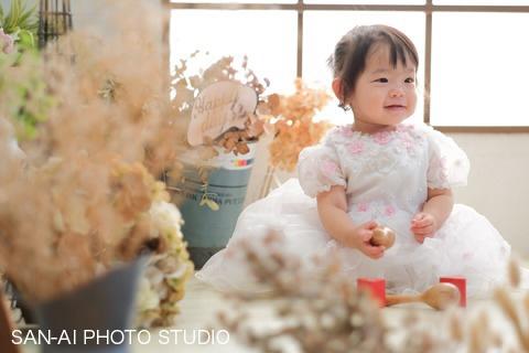 誕生日フォト 子どもドレス