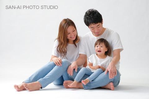 家族写真 ファミリーフォト お揃いコーデ