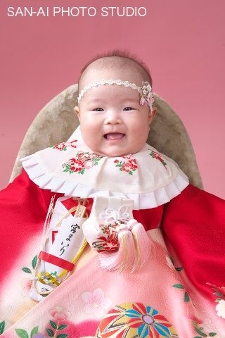 お宮参り 赤ちゃん 着物 百日 かわいい